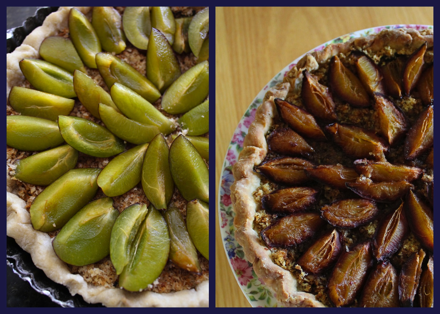 PLUM TART BEFORE AND AFTER