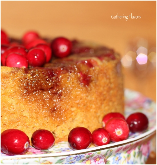 Watermarked Cranberry Cake with Border