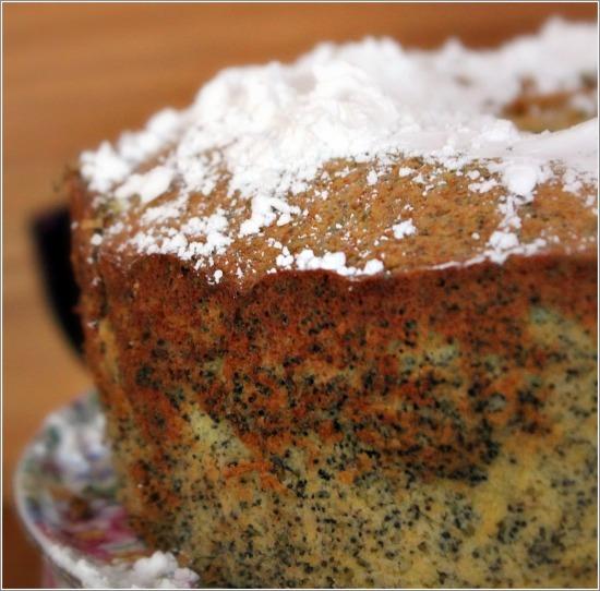 Poppy Seed Cake on Platter