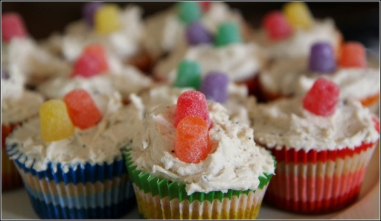 Spice Muffins with Gum Drops