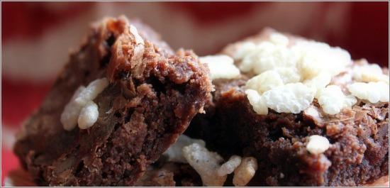 Rice Krispy Brownies Side View