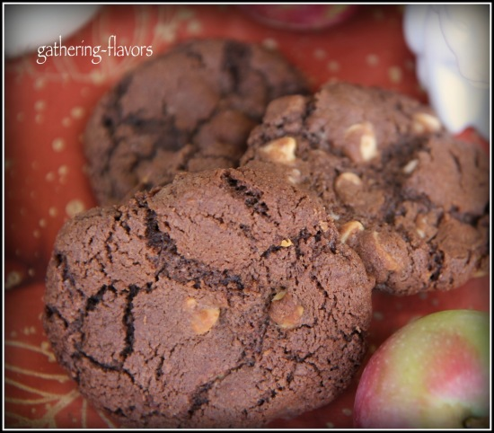 Watermarked Chocolate and White Chocolate Chip Cookies Vignette