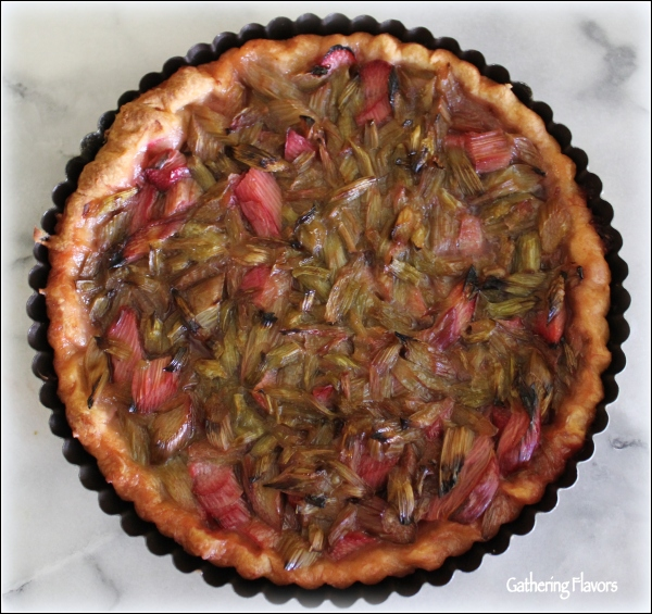 Rhubarb Tart on Marble by Dena T Bray