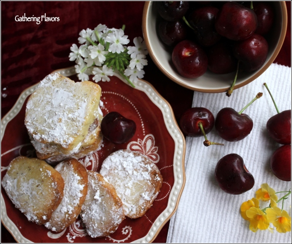 Anise Shortbreads with Cherries by Dena T Bray