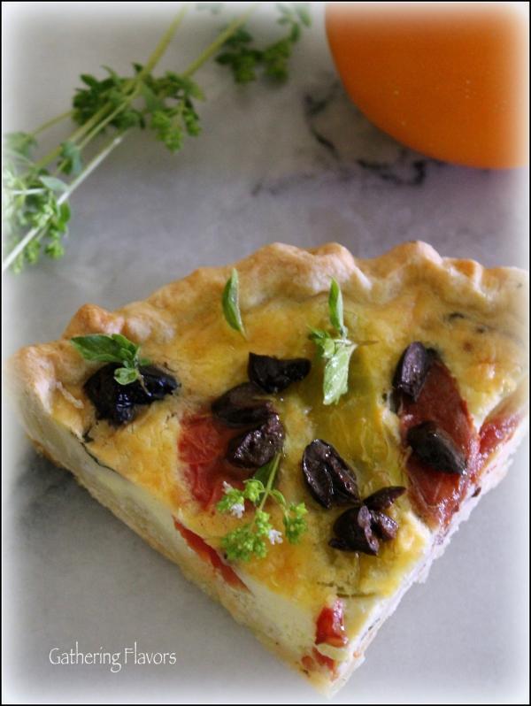 Heirloom Tomato Tart Wedge by Dena T Bray