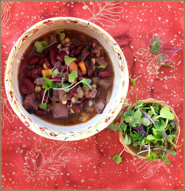 Bean Soup with Greens by Dena T Bray