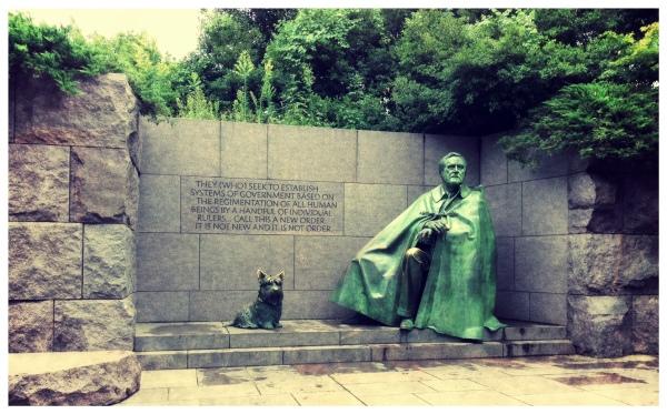 FDR Memorial Washington DC by Dena Testa Bray