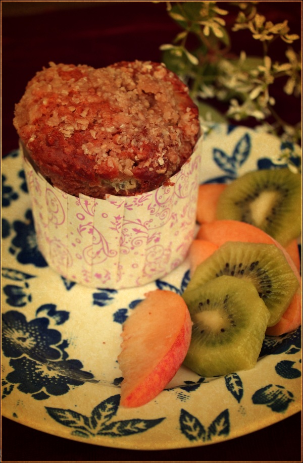 Peach Muffin with Vintage Look by Dena T Bray