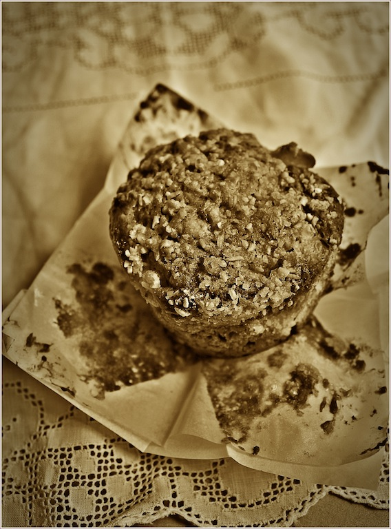 Peach Muffin in Sepia by Dena T Bray