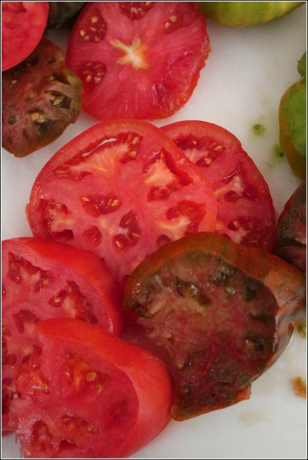 Fresh Tomato Slices by Dena T Bray