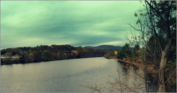 Connecticut River with Clouds by Dena T Bray