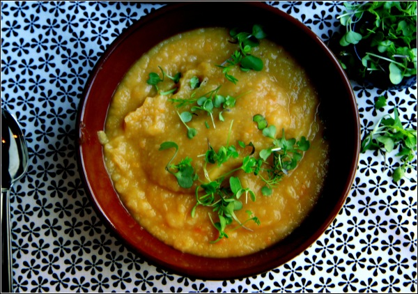 Potato Soup From Above with Greens  by Dena T Bray Ⓒ