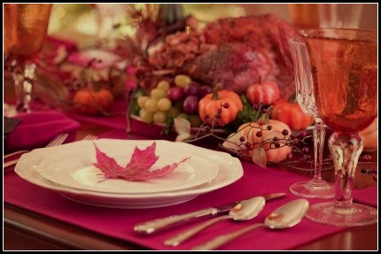 Thanksgivng Table for Gathering Flavors Ⓒ