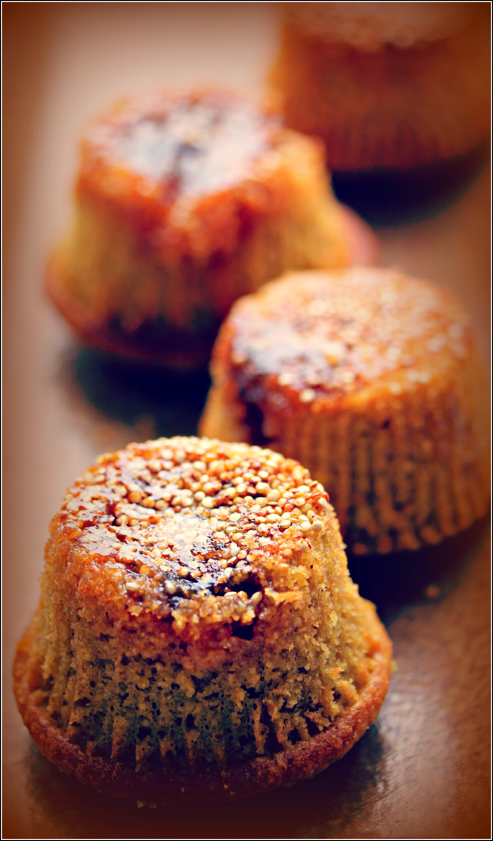 Four Quinoa and Plum Mini-cakes by Dena T Bray©