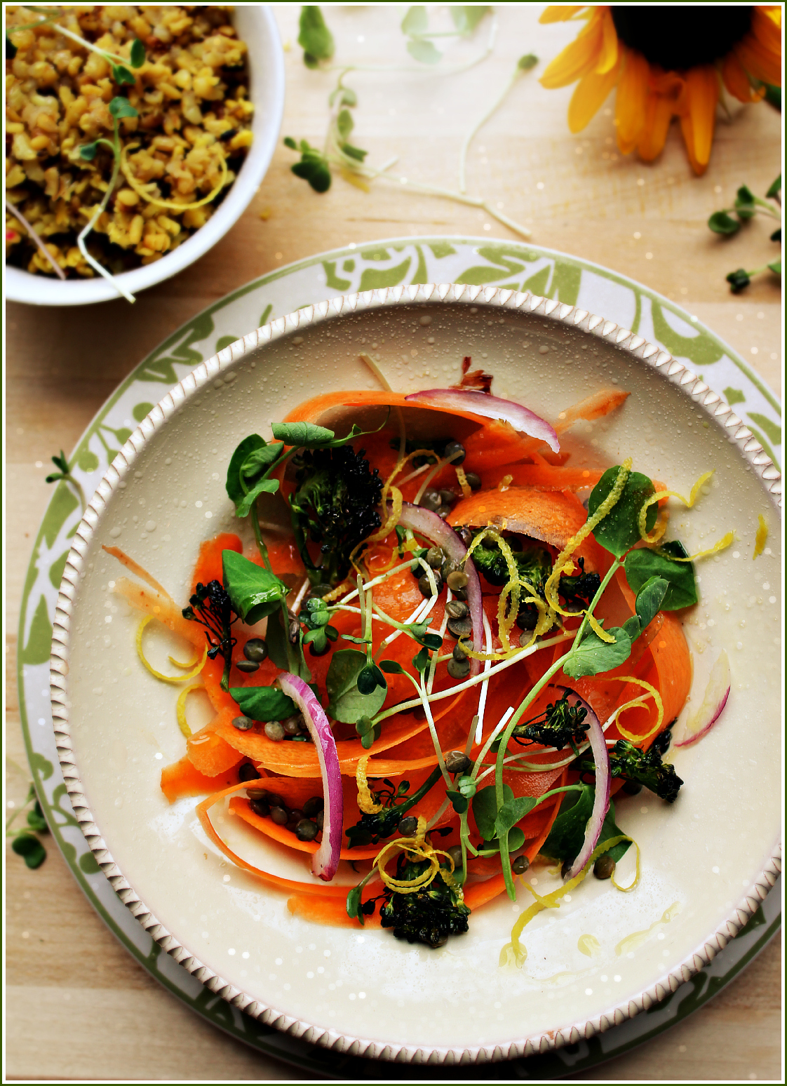 Carrot Salad with Broccoli and French Lentils by Dena T Bray