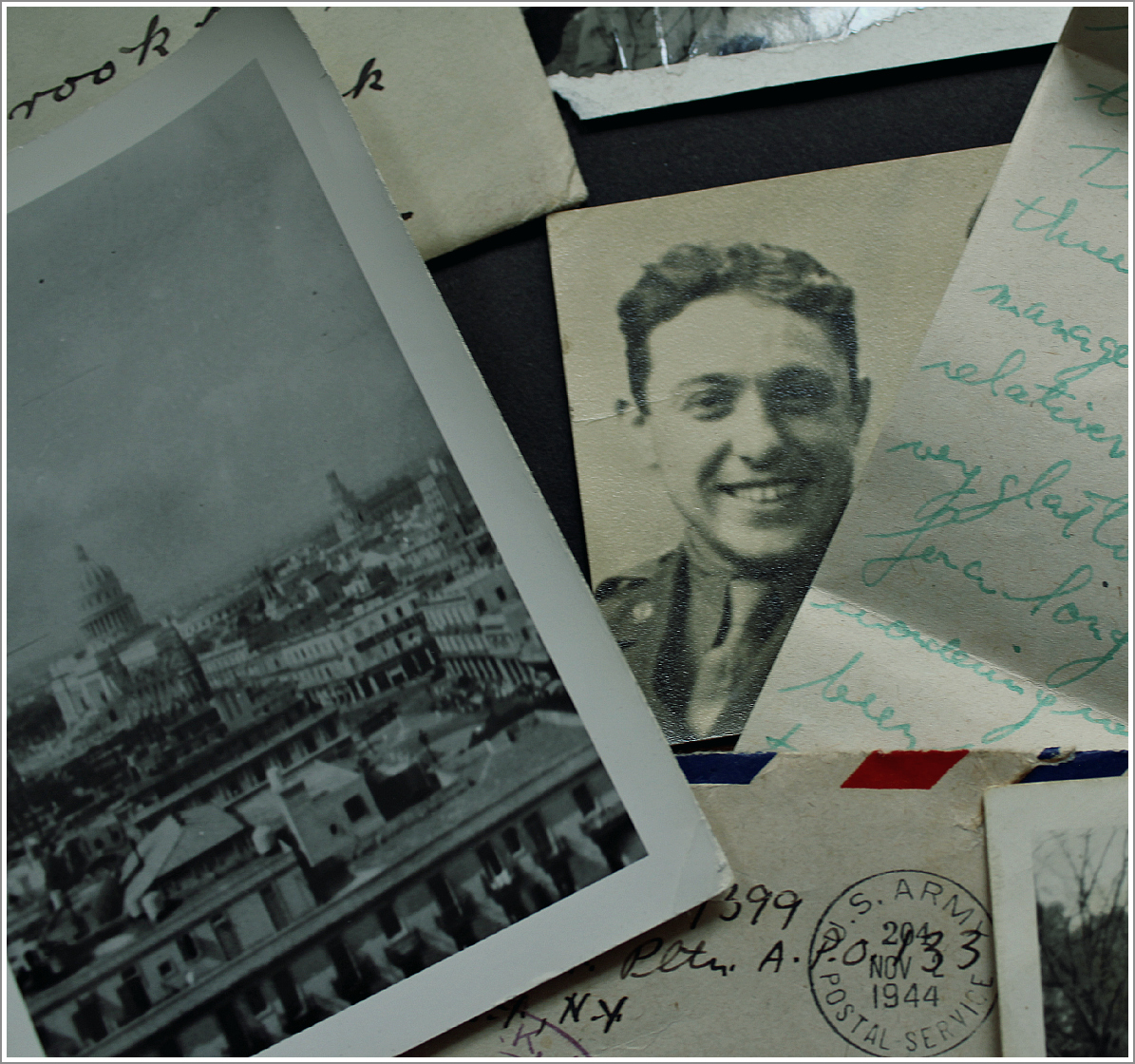 Collage, Abe Testa Photos and Letters, by Dena T Bray©