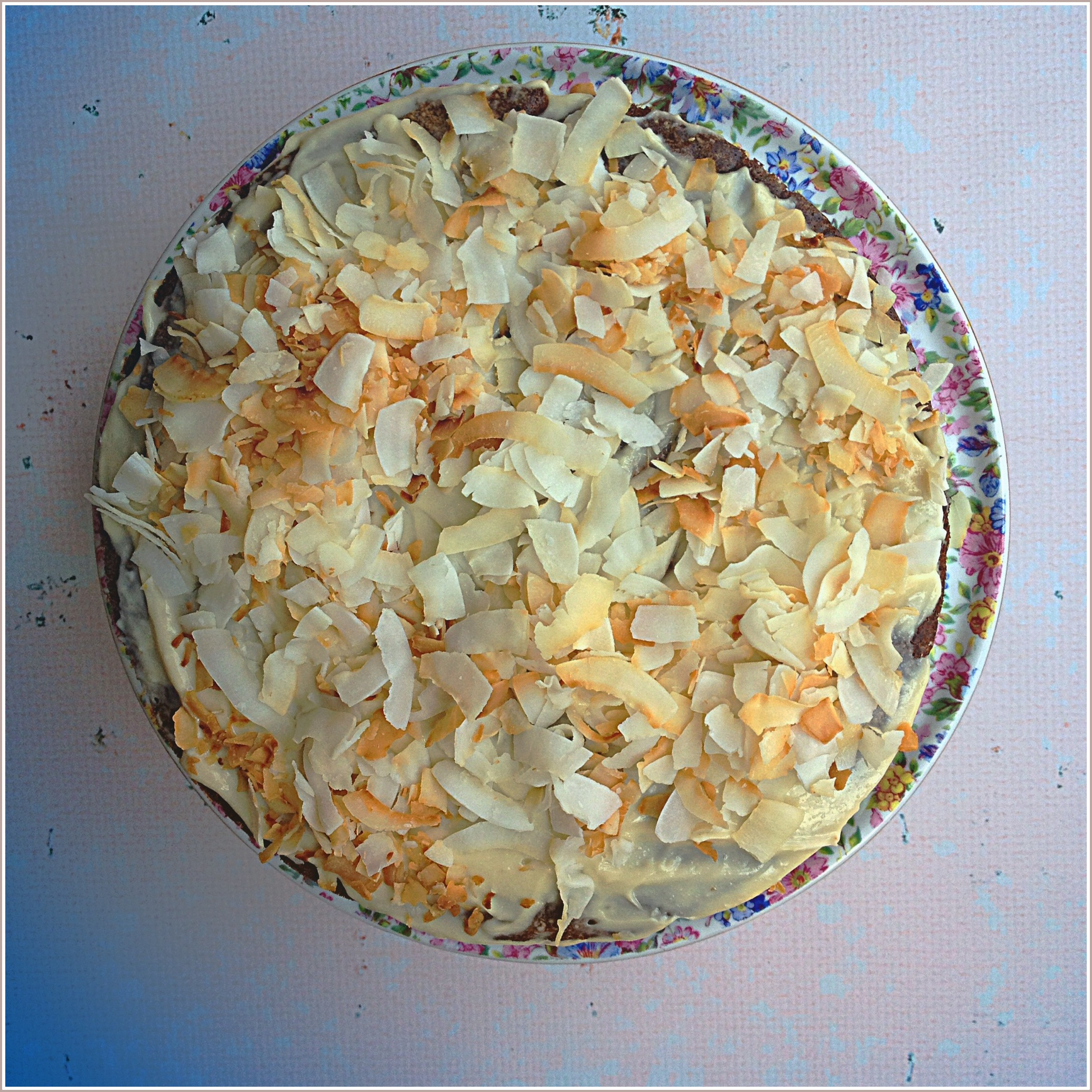 Carrot and Coconut Cake with Blues by Dena T Bray ©