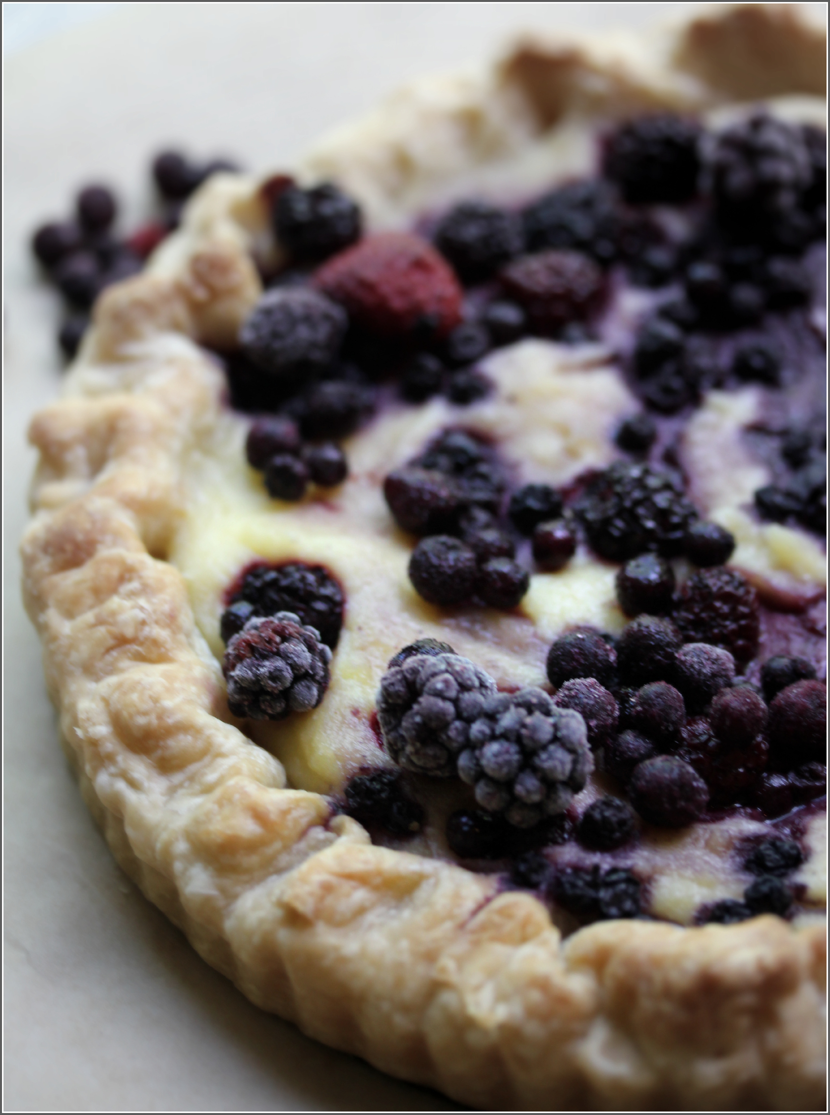 Partial Mixed Berry and Semolina Tart Up-close by Dena T Bray©