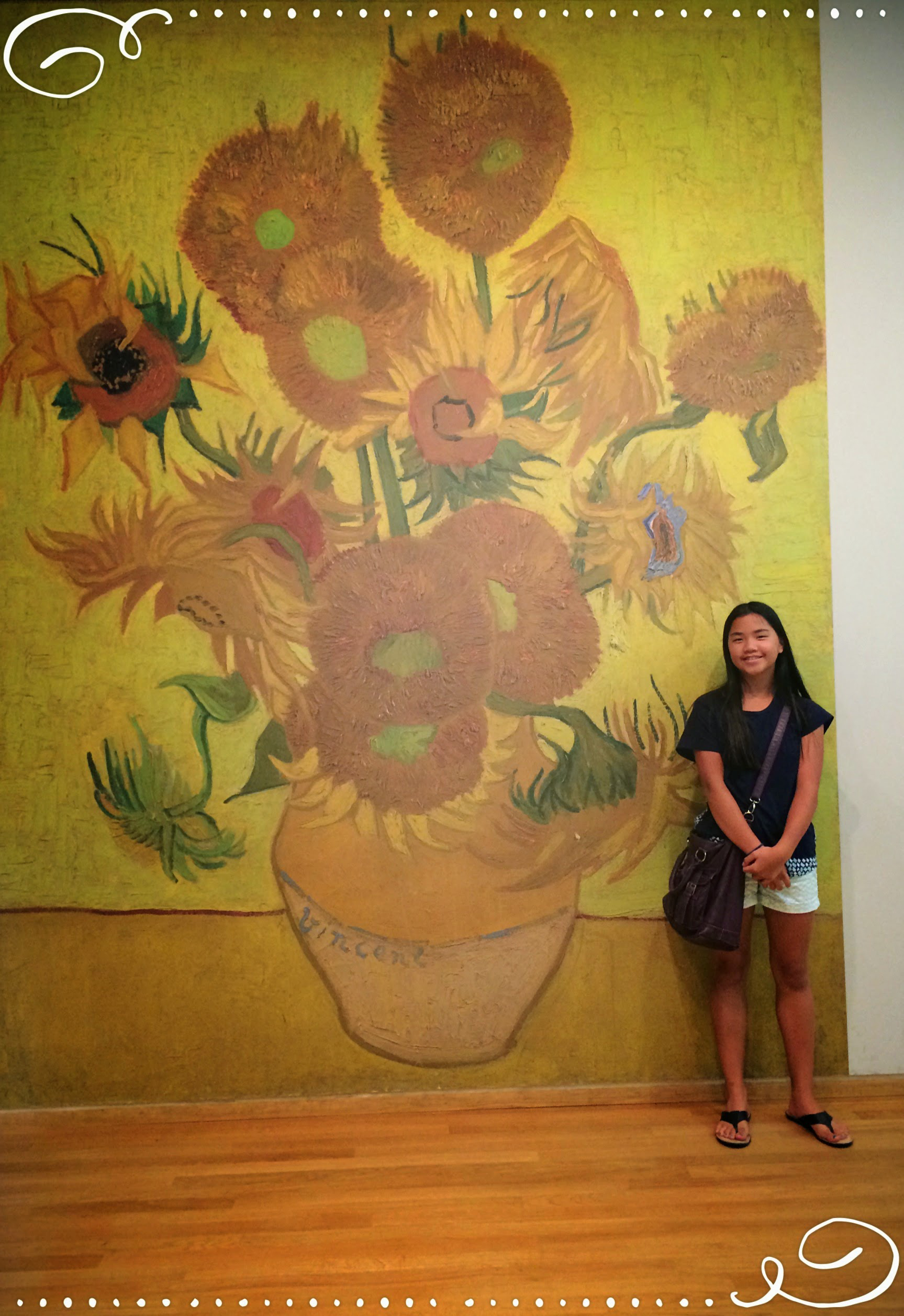 Isabel at the Van Gogh Museum Dena T Bray©