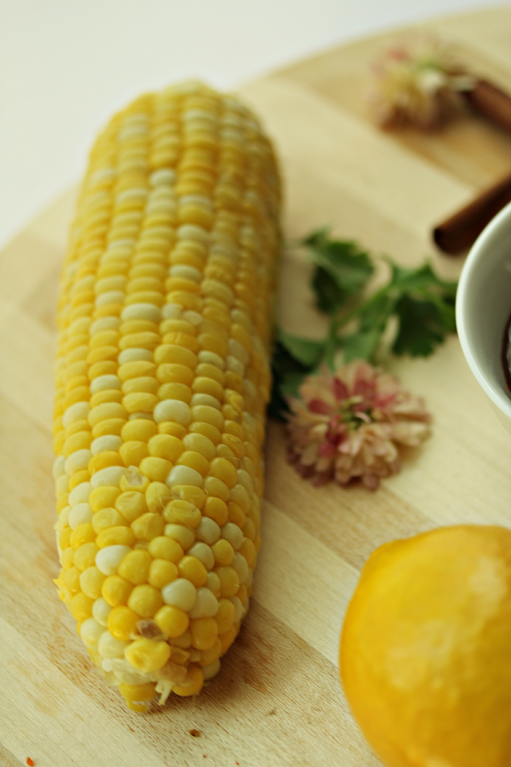 Corn with Flower and Lemon by Dena T Bray©