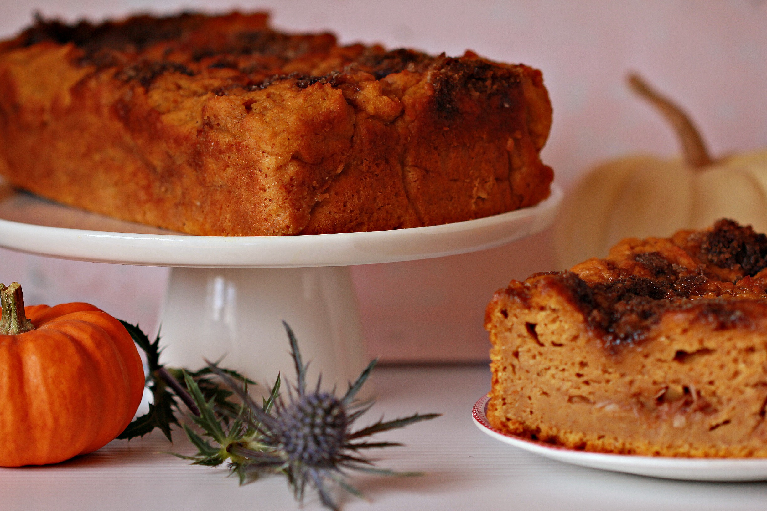 Pumpkin Bread on Platter by Dena T Bray©