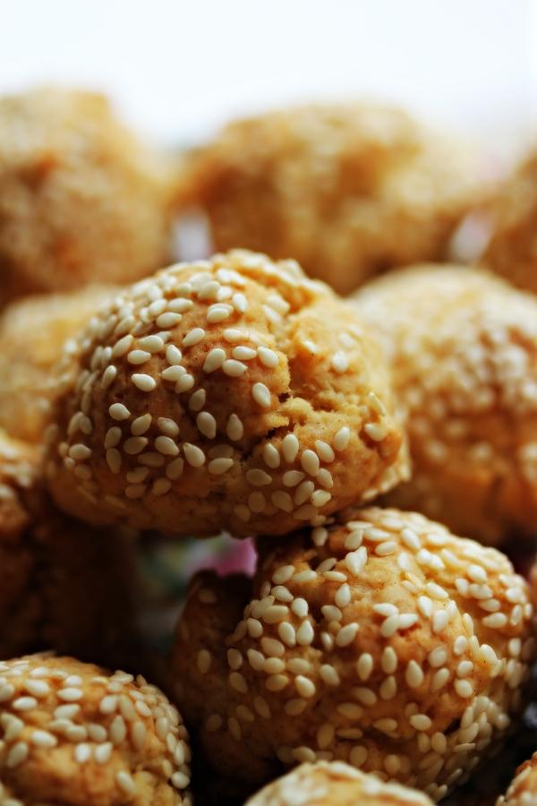 Sesame Cookies Closeup Dena T Bray©