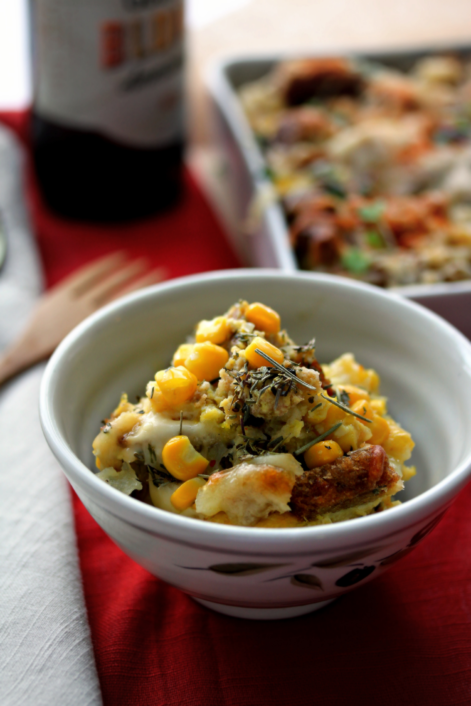 ©Savory Bread Pudding in Small Bowl by Dena T Bray