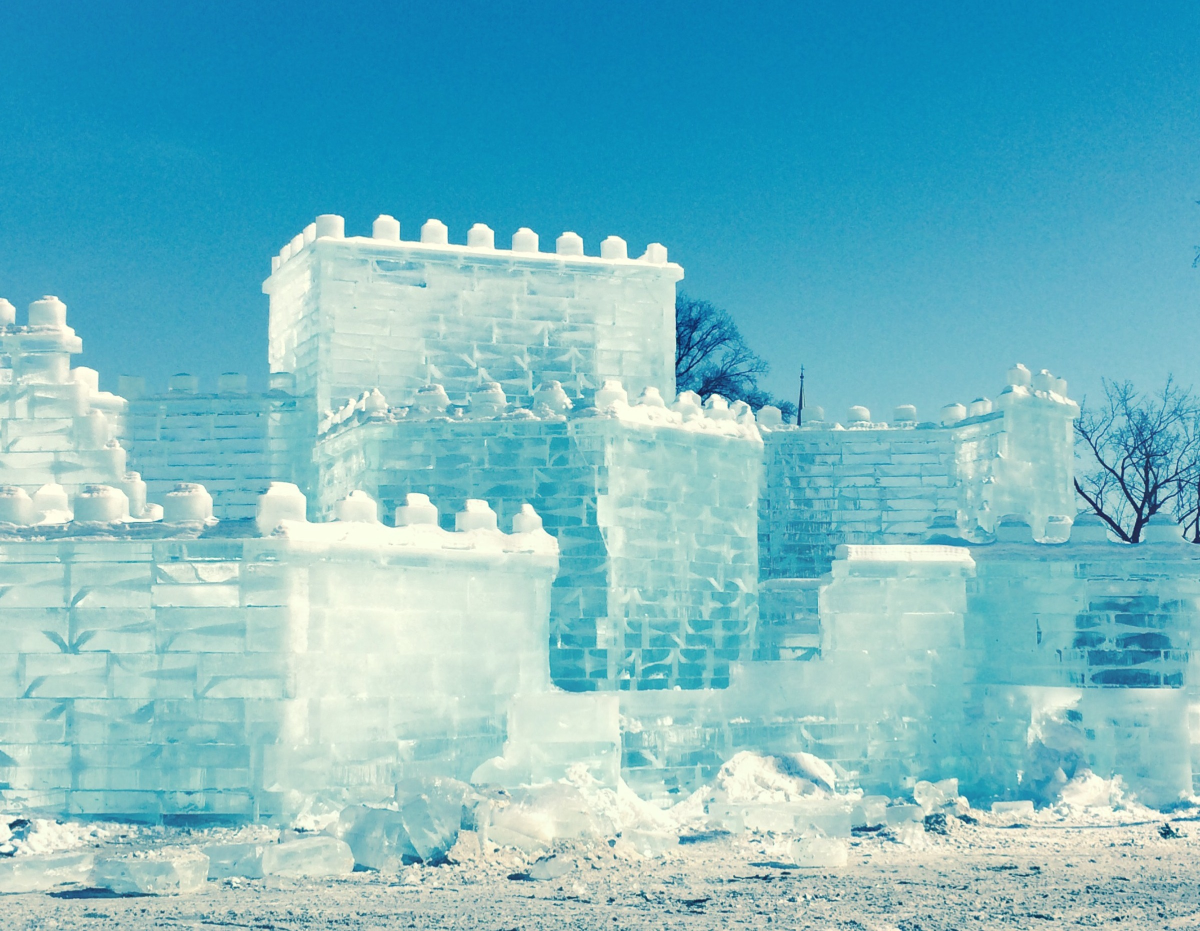 ©Ice Sculpture, Quebec City by Dena T. Bray