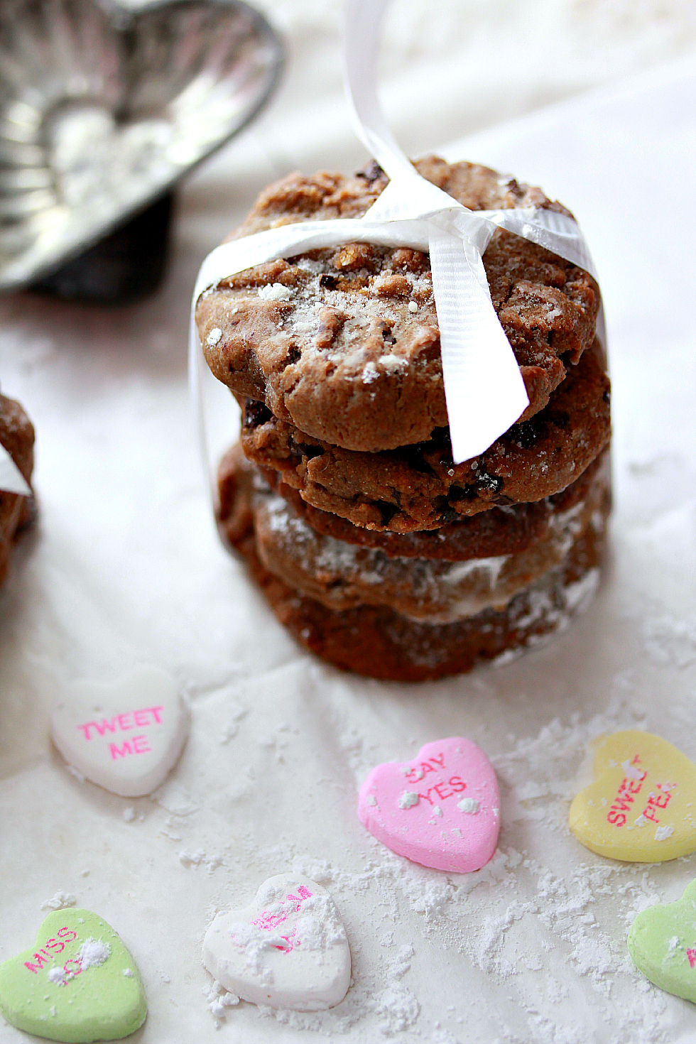 ©Sunflower Butter Cookies withValentine Candies by Dena T Bray