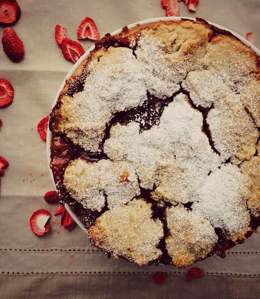 Cozy Strawberry Jam Cake